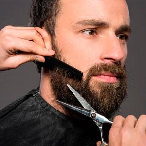 Фото как стричь бороду ножницами