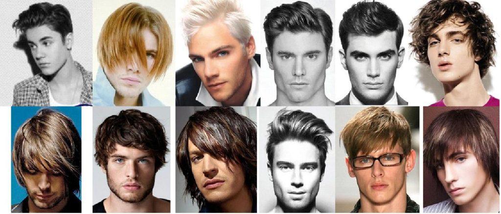 Мужские модельные стрижки на средние волосы фото