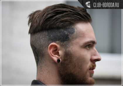 Мужская стрижка с выбритыми висками